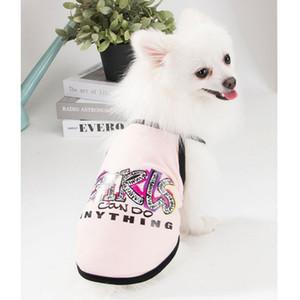 Camisa del perro del verano Letters ropa para perros para la camisa de los pequeños perros Chihuahua T lindo del perrito del chaleco Yorkshire Terrier de perrito