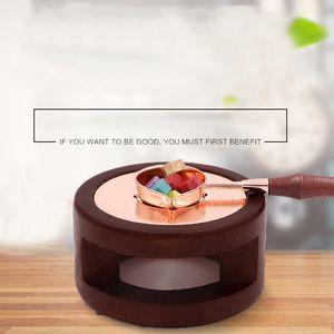 Strumento Retro Cera di fusione Portacucchiaini Masterizzazione Sticks tenuta Stamp Glue Pot Vintage Stufa Candela durevole fornace di legno