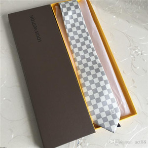 15 Farben Großhandel brandneue Luxus Designer Seidenkrawatte Boutique Krawatte Casual Business Krawatte 7,5 cm Originalverpackung Box