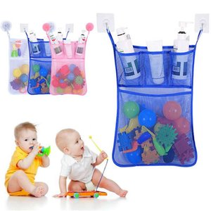 Multifunction Baby Bathroom Mesh Bag Child Bath Toy Bag Net Suction Cup Baskets Kids Bath Shower Toy Organizer Bags