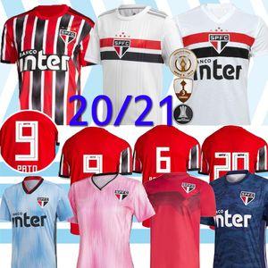 20 21 Sao Paulo FC B. Alves camiseta de fútbol jersey Hernanes PABLO Reinaldo PATO DANI ALVES camisetas de los fanáticos del fútbol Camisas de Sao Paulo