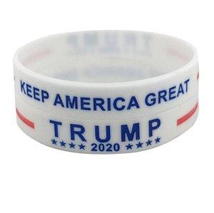 Trump Silicone Wristband Rubber Support Bracelets Bangles Make America Great Donald Trump 2020 Jewelry 1500pcs LJJO8129