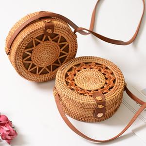 Rotin tissé à la main creux en forme d'étoile à cinq branches en forme de croix sac à bandoulière style sac à bandoulière