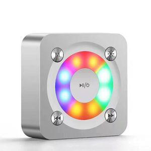 2019 Renkli Taşınabilir Kablosuz Bluetooth Kare Hoparlör Desteği FM LED Shinning TF Kart Müzik Çalma Ses Kontrolü
