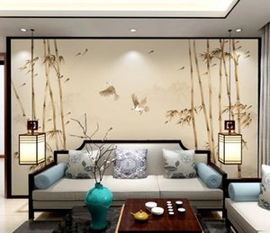 3D Wallpaper Modern Simple style hand-painted bamboo landscape Photo Wall Murals custom Living Room Bedroom Background Wall Home Decor