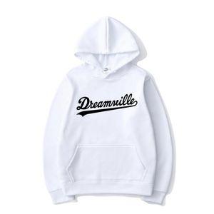 Dreamville Letter Print Hoodies J Cole Hip Hop Hooded Sweatshirt Men Women Fashion Hoodie Sport Casual Pullover Tops Coat Unisex