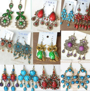 10Pairs Lot Classical Earrings Dangle Chandelier For Women Gift Craft Jewelry Earring Mix Style Colors EA036