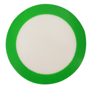 FDA silicone mat Green Round Silicone Mats Wax Non-Stick Pads Silicone Mat Food Grade Baking Mat Dabber Sheets Jars Dab Pad Baking