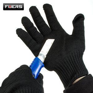 Fashion-Proof schützen Handschuhe Edelstahl-Draht-Sicherheit Cut Metal Mesh Anti-Cutting Breatharbeitshandschuhe Selbstverteidigung freies Verschiffen