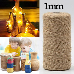 1mm 1000m Natural Jute Rope Twine Rope Twisted Cord Macrame String Diy Craft Decoration Pet Scring