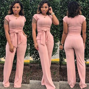 Frauen Designer 2 stücke Anzüge Kurzarm Schärpen Streifen Damen Trainingsanzüge Casual Womens Kleidung Waid-Taille