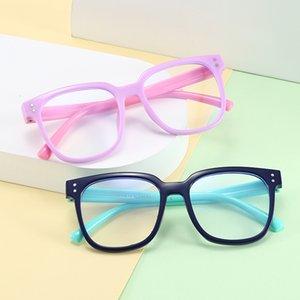 Силикагель Блокировка антибликовым очки UV Детские анти-синих очков синего света Дети Мальчик Девочка компьютер Прозрачный