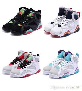 Детские кроссовки 7 Basetball обувь для девочек и мальчиков дышащая резиновая сетка детская спортивная баскетбольная обувь размер: 28-35