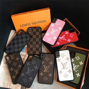 9 couleurs Monogram pour iPhone 11 Designer Pro Max Phone pour iPhone XR / XS Max 7/8 plus Phone Housse