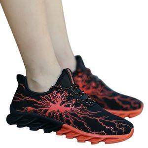 SAGACE Chaussures d'été Couple Mode Courir Sports Chaussures Confortable usure d'absorption des chocs antidérapante de basket-ball Chaussures de sport X1230