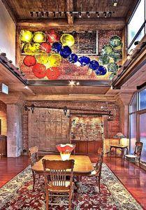 Handgemachte gebranntes Borosilicatglas Wandplatten-Kunst-Dekor Murano Glass Hotel Wandleuchten Italian Design geblasenem Glas Teller
