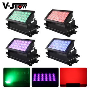 4 adet Su Geçirmez LED Işık Açık LED Bar 24 * 10 W RGBW Açık Yıkama Led Şehir Rengi DJ Işık
