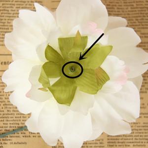 Шелковый Peony искусственный цветок 10см Моделирование Поддельный пион Head Flower Главная пион Шелковый цветок Глава Свадебные украшения для вечеринок VT0537