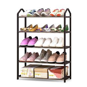 Simple Multi-layers Metal Iron Shoe Shelf Student Dormitory Shoe Storage Rack DIY Shoe Cabinet Home Furniture