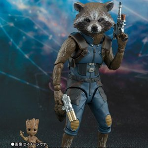 Marvel Avengers 4 SHFiguarts SHF Guardians of the Galaxy Rocket Raccoon & Baby Tree Action Figures Toys for children 15cm