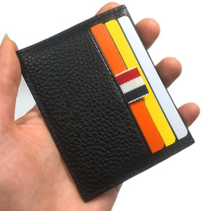 2020 Мода кредитной карты держатель кошелек Ультра-тонкий держатель натуральной кожи карты Портмоне мужчин Тонкий банк ID Card Case Карманный сумка
