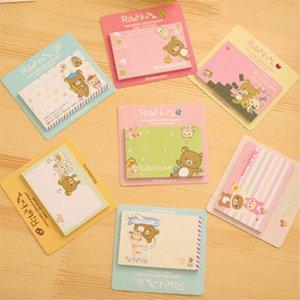 24PC / Lot Rilakkuma Notepad / mensagem post / removível Memo papel adesivo Pad Sticky Notes Escola Escritório Escolar Papelaria