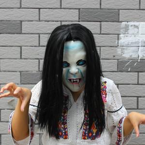Sadako Máscara Máscaras Halloween Devil Cosplay terror assustador máscara máscaras Halloween Vendetta Sadako pulôver assustador Zombie noiva do partido