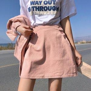 EU0pA Yaz yeni yüksek bel Tek Adımda bfstyle kot skirtdenim etek hepsi maç dar Hong Kong tarzı Aline hip-sarılı tek adımlı etek