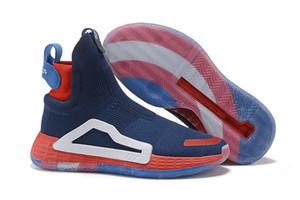 2019 Donovan Mitchell Sapatos para Homens Sapatos de Basquete Original N3xt L3v3l Zach LaVine Nuvem Preta Branco Sapatos de Malha Tamanho 40-46