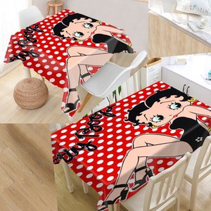 New Arrival Custom Betty Boop Table Cloth Water Sector Oxford Retangular Tablecloth Home Party Splocth Y200421