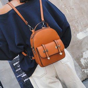 DIEHE Brand New Design Fashion Rucksack Mochilas Reisen PU-Leder Kleiner Rucksack Frauen Rucksäcke für Teenager Schulranzen T200428