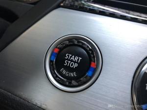 10 stücke für bmw e90 e92 e93 kohlefaser auto motor start stop ring m streifen trim kreis zündung schlüsselanhänger 3 serie zubehör