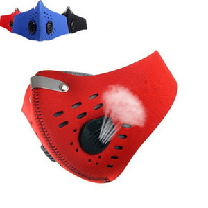 Biking Anti Dust Bike Designer Face Mask With Activated Carbon Man Woman Running Cycling Anti-Pollution Bike Face Isolation Mask with Filter