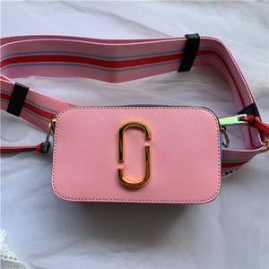 duas carreiras 2020 sênior grife senhoras de saco de ombro largo ombro colorido correia zipper mini-saco quadrado do cartão móvel sacos saco crossbody