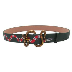 Hombre Serpiente para mujer Cinturones diseñador marca de la correa Cartas hebilla de la aguja para hombre de la mujer Cinturones 3 Estilos opcionales
