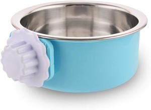 Cajón del perro Bowl, extraíble recipiente para perros de acero inoxidable con alimentador del perrito de Plástico agua de la taza para Conejos Perros Gatos