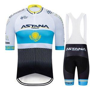 NUEVO 2019 equipo Astana blanca ropa de ciclo bici Jersey Ropa para hombre del verano de la bicicleta Pro jerseys de ciclo Gel Pad pantalones de ciclista