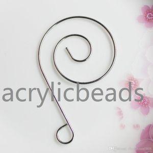 China Yiwu precio de fábrica 29 * 48mm único espiral de acero inoxidable S Ganchos percha ornamento decorativo 50pcs 100pcs