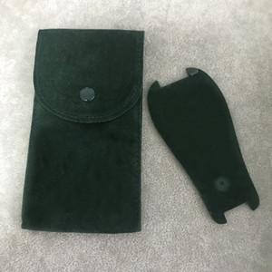 Verde Protective Watch bolso Liso flanela Bolsa das mulheres dos homens relógio de pulso caso protetor Relógios bolsos de armazenamento verde Gift Bag