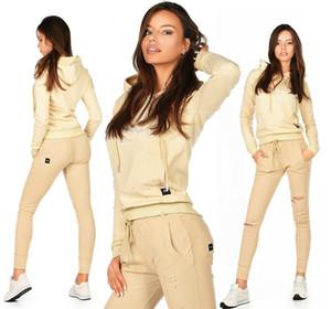 18 19 бесплатная доставка очень Клор сексуальные новые женские пробежки активная одежда бежевый спортивный костюм E 379 лучший