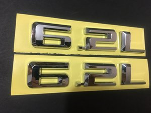 6.2L Литр Chrome матовый черный эмблема бампер / Trunk / Капот / Двигатель Silverado BLK Border стикера знак