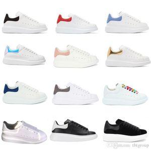 Spor ayakkabılar Kadın Erkek Casual Parti Düğün Ayakkabı Süet spor eğitmenleri 39 renk çalıştıran TOP Mens Yansıtıcı Platformu Sneakers hakiki deri