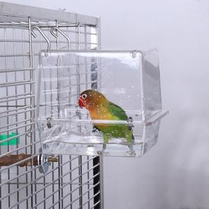 Двойной крючок Подвесной Модернизированный Bird Cage Ванна Регулируемая Большая Clear View Pet NEW Другое Bird Supplies