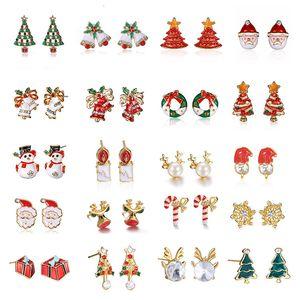 Оригинальность Рождественской елка серьга мультфильм день мая серьга