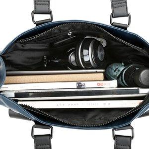 Man bag briefcase portable shoulder Messenger Korean men leisure business travel computer bag Oxford canvas 15.6