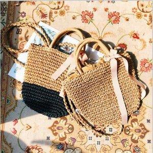 Strand Stroh-Beutel Handtaschen-Frauen-Weinlese-Damen-handgemachte gesponnene Rattan Messenger Handtasche der neuen Sommer-Bali Bohemian Umhängetasche Umhängetasche DYP1069