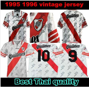 1995/1996 Retro Version River Plate Fußball Jerseys 95/96 Startseite Caniggia Francescoli Camisas de Futebol Fußball-Hemd Qualität Fußball-Uniformen