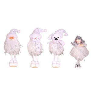 Innovador muñeco de nieve de peluche oso ángel Papá Noel decoraciones para árboles de navidad adornos para armarios decoraciones navideñas para el hogar