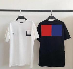 حرف20ss Monogram Letter Geometric Printed Fashion T-Shirt Summer Breatable Te Semptly Simple Men Street Short Sleve HFHLTX024