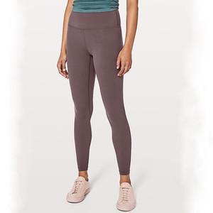 L-k058 estiramento calças apertadas yoga cintura alta correndo treino de fitness yoga calças secas rápida Exercício Fitness Wear Meninas Marca Correndo Leggin